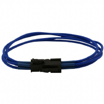 4 Pin ATX Blue Braided Male to Female Power Extension Cable